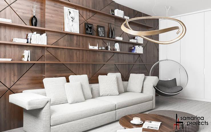 """Дизайн квартиры """"Уютная студенческая квартирка"""": Гостиная в . Автор – Samarina projects"""