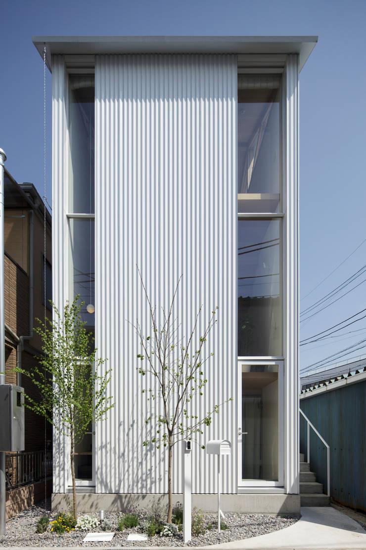 シナの木と白い家: 高橋真紀建築設計事務所が手掛けた家です。