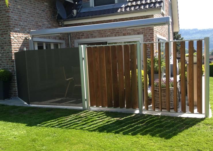 Aluminium mit Holz-Optik:  Garten von SIWA AG