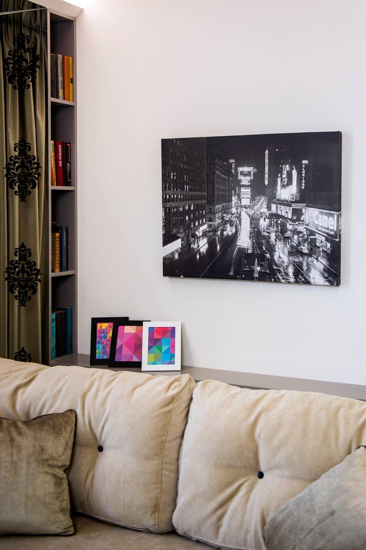 Полка: Гостиная в . Автор – Дизайн-студия Екатерины Поповой