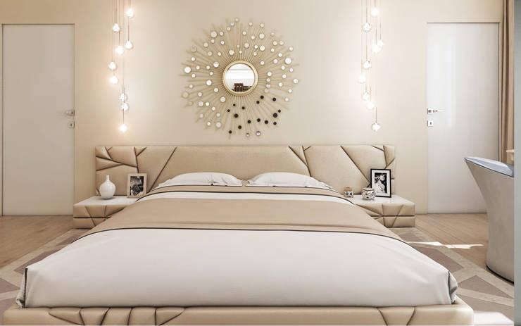 """Дизайн квартиры """"Сочные акценты"""": Спальни в . Автор – Samarina projects, Классический"""