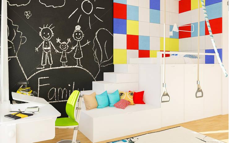 """Дизайн квартиры """"Сочные акценты"""": Детские комнаты в . Автор – Samarina projects, Минимализм"""