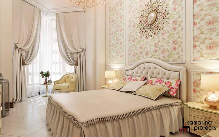 """Дизайн квартиры """"Легкая классика"""": Спальни в . Автор – Samarina projects"""