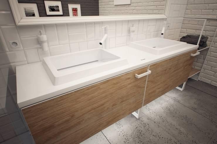 Umywalka podwójna LUXUM: styl , w kategorii Łazienka zaprojektowany przez Luxum,Minimalistyczny