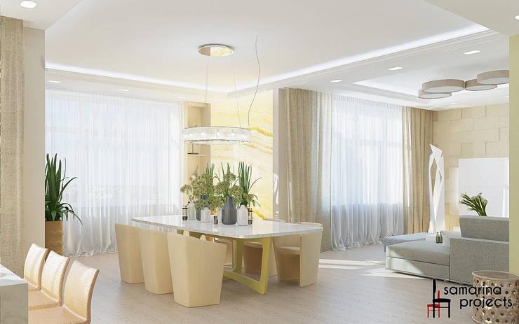 """Дизайн квартиры """"Гармония цвета"""": Столовые комнаты в . Автор – Samarina projects, Минимализм"""