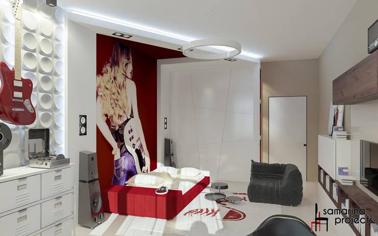 """Дизайн квартиры """"Гармония цвета"""": Детские комнаты в . Автор – Samarina projects, Минимализм"""
