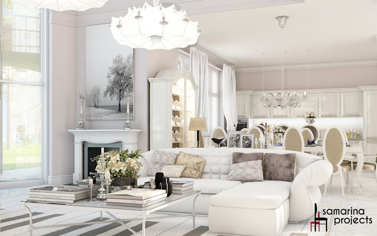 Living room by Samarina projects