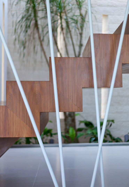Casa Jabin.: Pasillos y recibidores de estilo  por TAFF