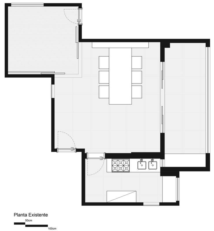 Planta Existente:   por Haruf Arquitetura + Design
