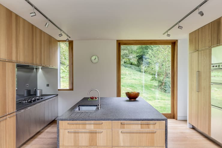 The Nook:  Kitchen by Hall + Bednarczyk Architects