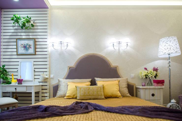 Лавандовые мечты: Спальни в . Автор – Дизайн-студия Екатерины Поповой