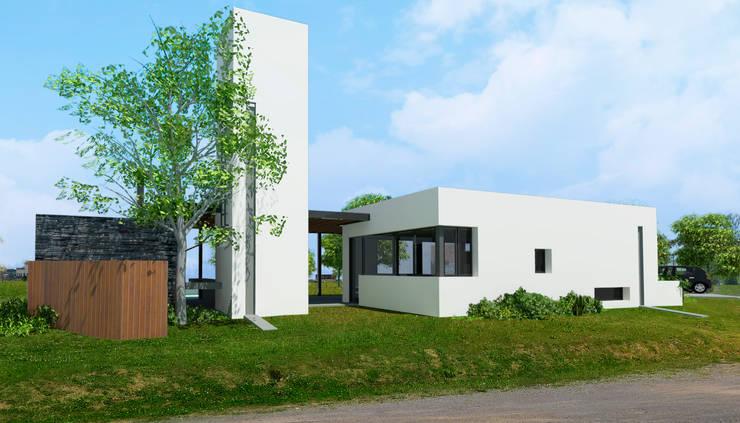 Render Ingreso - Etapa 1:  de estilo  por BIAGIONI / PECORARI Arquitectos