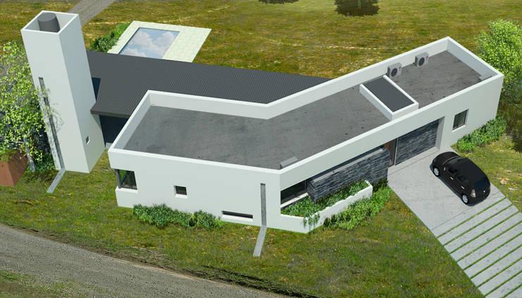 Render Aéreo - Etapa 1:  de estilo  por BIAGIONI / PECORARI Arquitectos