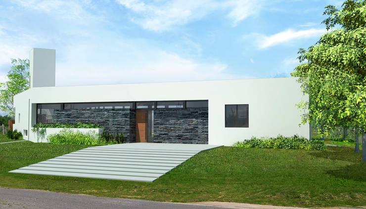 Casa en Aires del Llano:  de estilo  por BIAGIONI / PECORARI Arquitectos