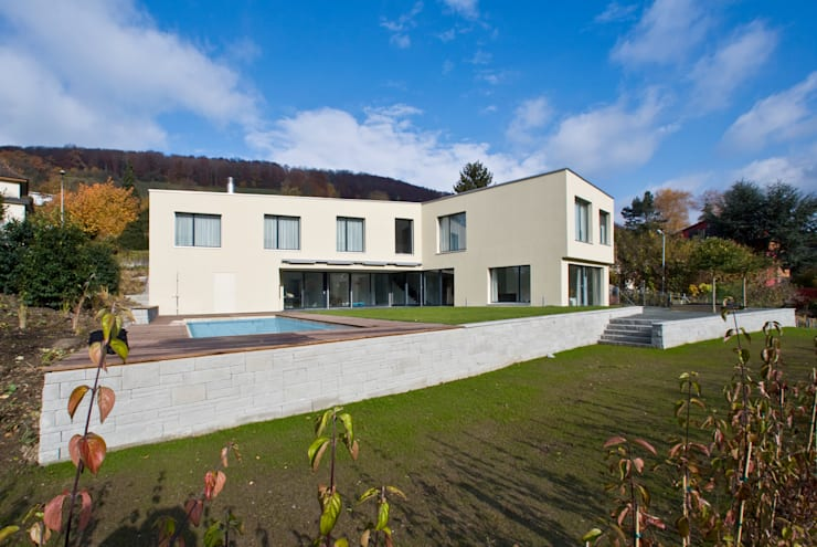 Projekty,  Domy zaprojektowane przez rgp architekten sia ag