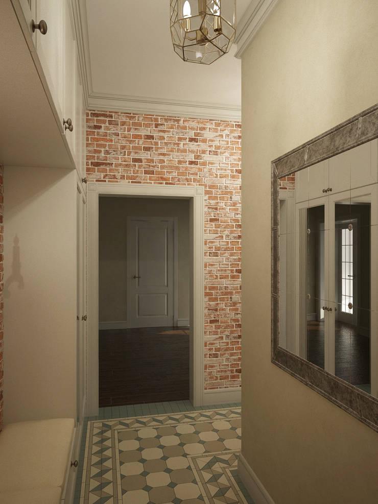 Квартира на Профсоюзной: Коридор и прихожая в . Автор – Студия дизайна Марии Губиной