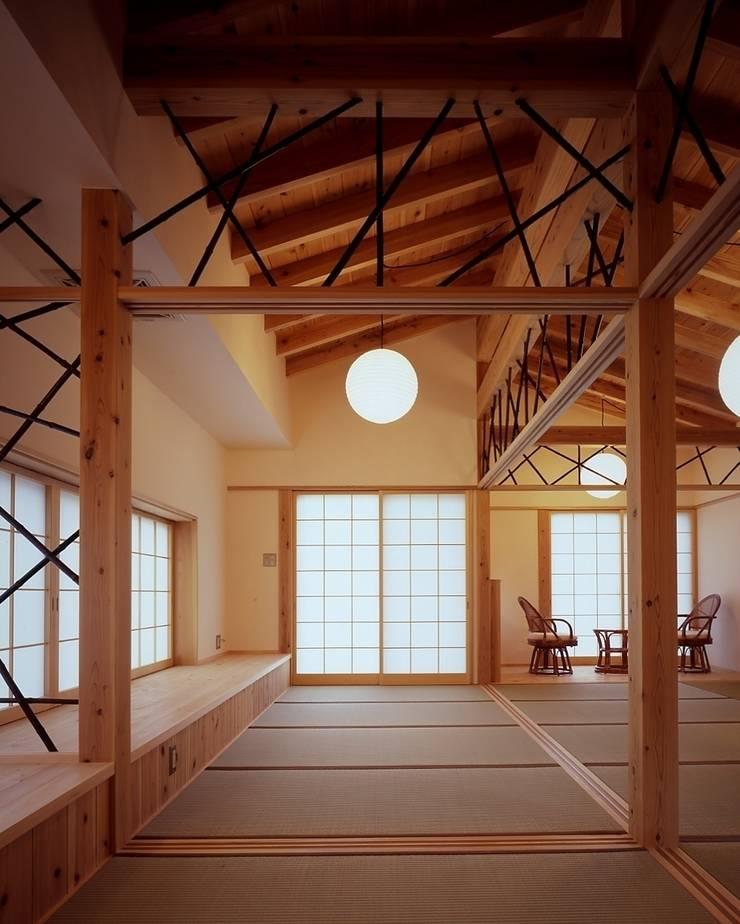 那須高原の家: TAMAI ATELIERが手掛けた寝室です。