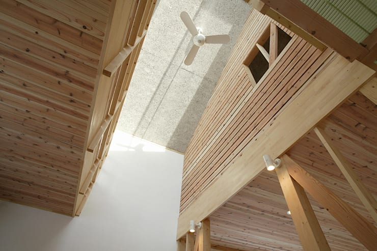 新潟の家 キッチン吹抜け: 腰越耕太建築設計事務所が手掛けたキッチンです。,モダン