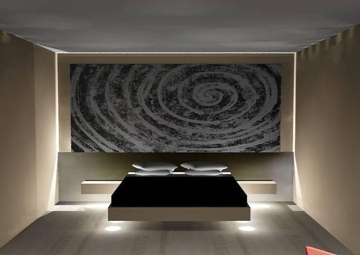 Cabezal de dormitorio abstracto: Hoteles de estilo  de Murales Divinos