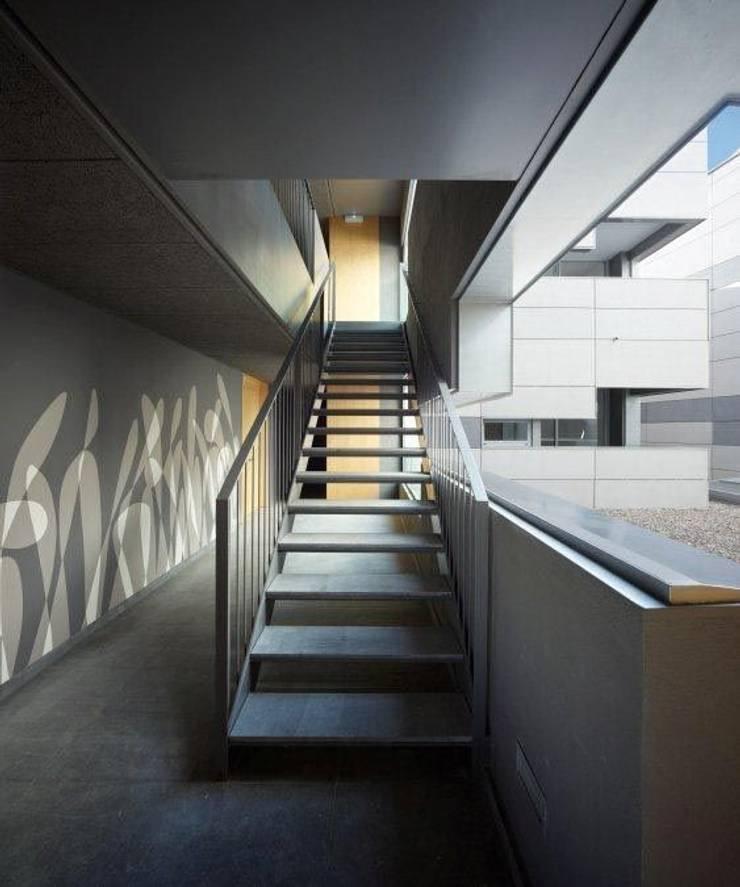 Decoración en pasillo exterior: Pasillos y vestíbulos de estilo  de Murales Divinos, Minimalista