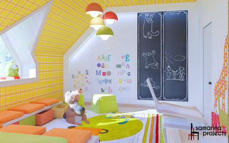 """Дизайн коттеджа """"В ритме загородной жизни"""" : Детские комнаты в . Автор – Samarina projects, Минимализм"""