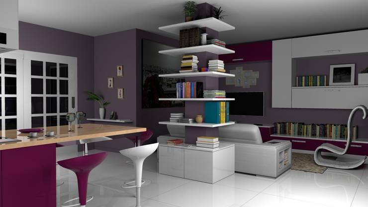 Salas / recibidores de estilo mediterraneo por Studio Tecnico Savignano