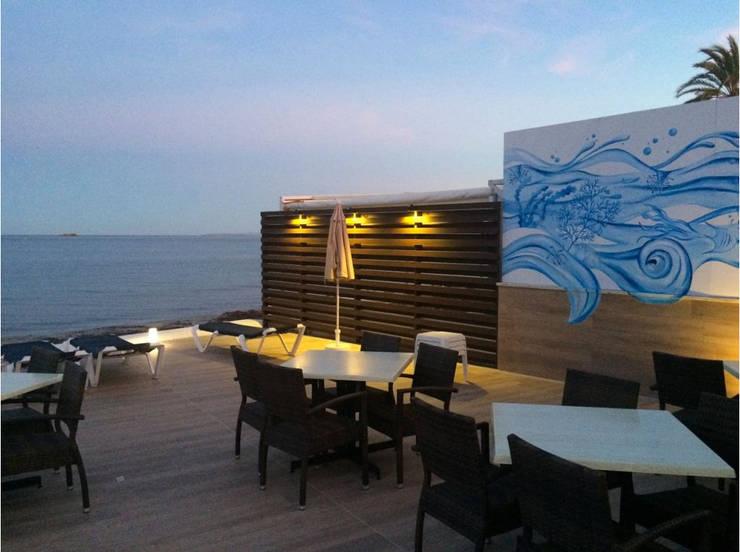 Pared en terraza de hotel Hoteles de estilo mediterráneo de Murales Divinos Mediterráneo