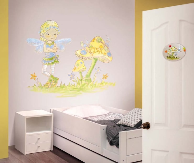 Hadita entre setas Dormitorios infantiles de estilo moderno de Murales Divinos Moderno