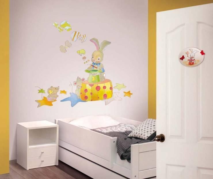 Conejito mago Dormitorios infantiles de estilo moderno de Murales Divinos Moderno