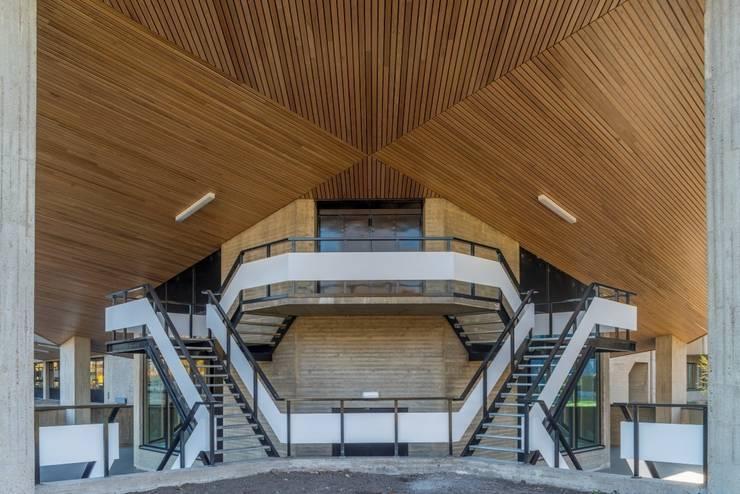Massief houten systemen:  Scholen door Derako International B.V.