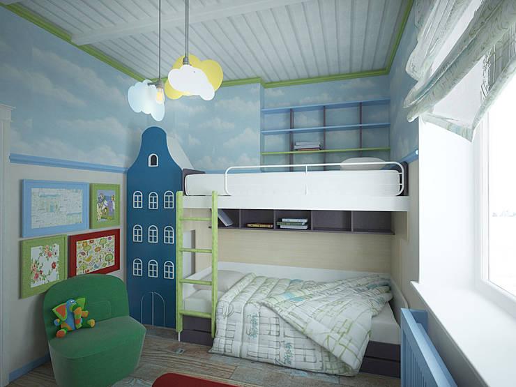 Город детей.Комната мальчика : Детская комната в . Автор – студия Виталии Романовской
