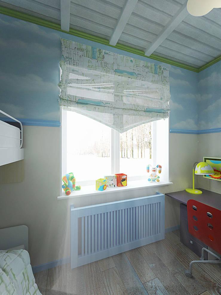 Город детей.Комната мальчика : Детские комнаты в . Автор – студия Виталии Романовской