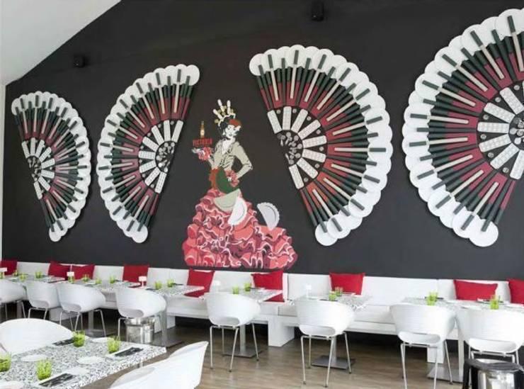 Diseño decorativo en restaurante Bares y clubs de estilo moderno de Murales Divinos Moderno
