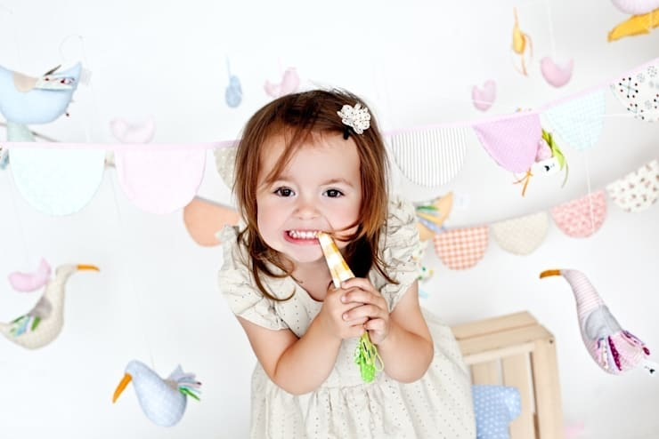 Chorągiewki, proporczyki: styl , w kategorii Pokój dziecięcy zaprojektowany przez Minimetry