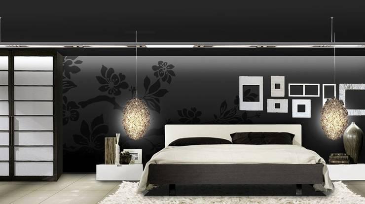 Dormitorios de estilo  por Murales Divinos