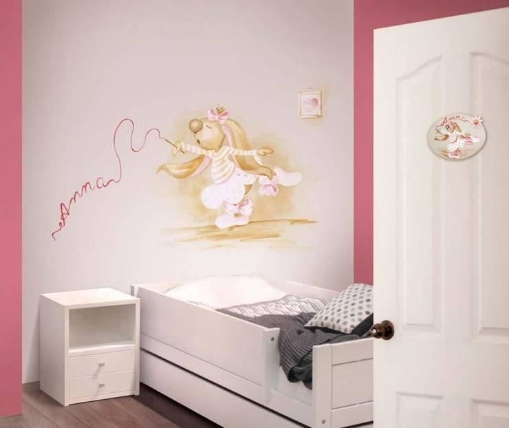 Conejita bailarina Dormitorios infantiles de estilo clásico de Murales Divinos Clásico