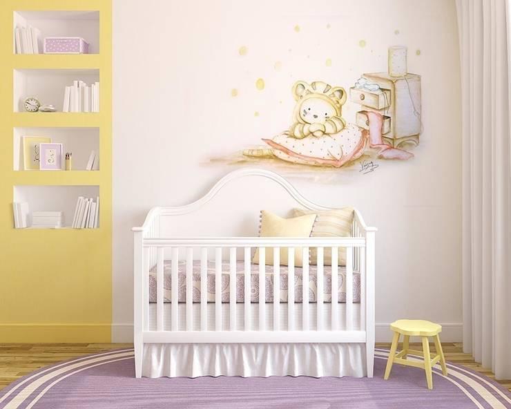 Bebé disfrazado: Dormitorios infantiles de estilo moderno de Murales Divinos