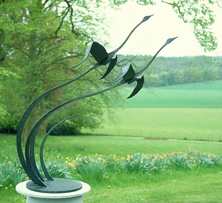 Flying Geese Garden Sculpture:  Garden by Paul Margetts