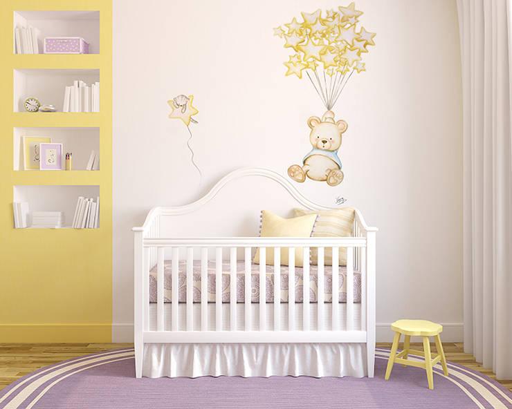 Детские комнаты в . Автор – Murales Divinos