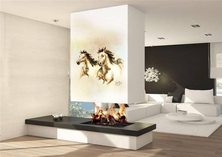Salas / recibidores de estilo moderno por Murales Divinos