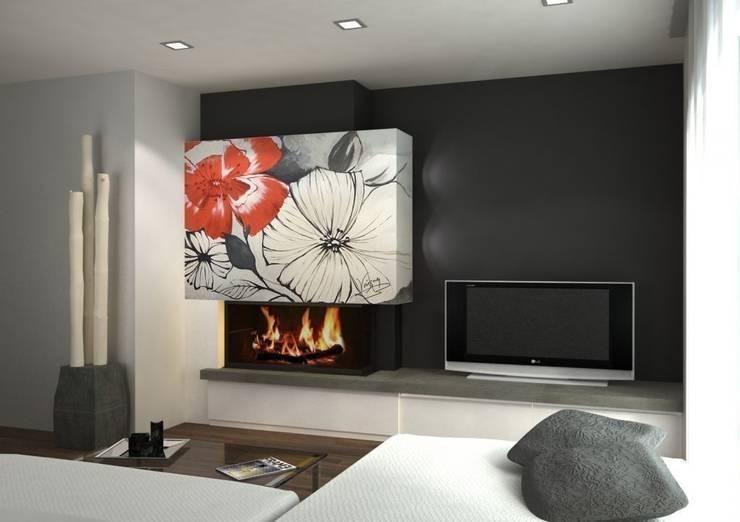 Salas / recibidores de estilo  por Murales Divinos