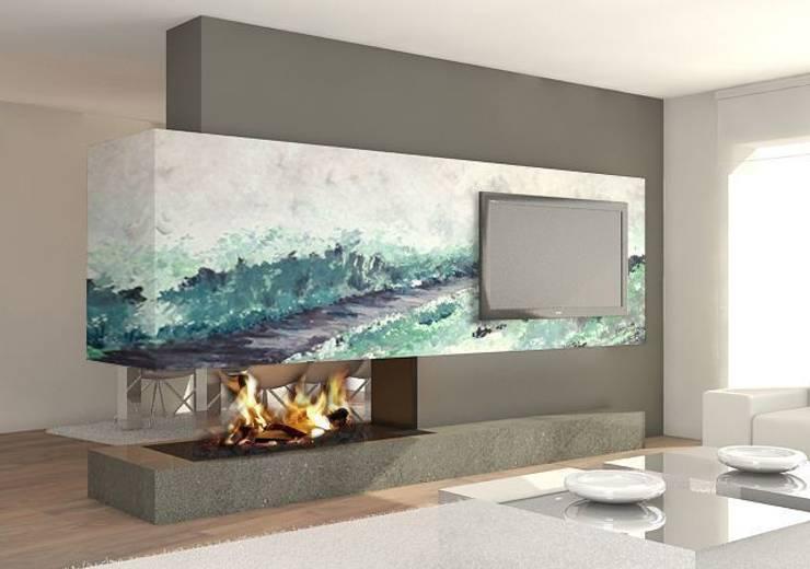 moderne Woonkamer door Murales Divinos