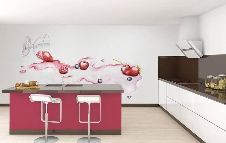 Copa de frutos rojos: Cocinas de estilo  de Murales Divinos