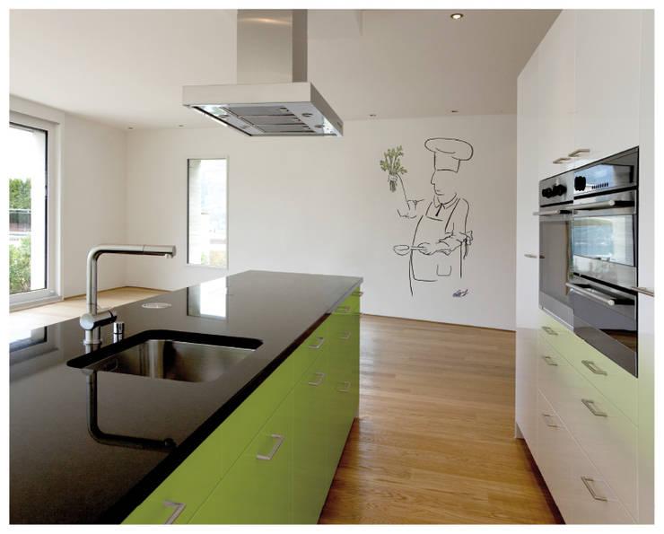 Cocinero con perejil: Cocinas de estilo minimalista de Murales Divinos