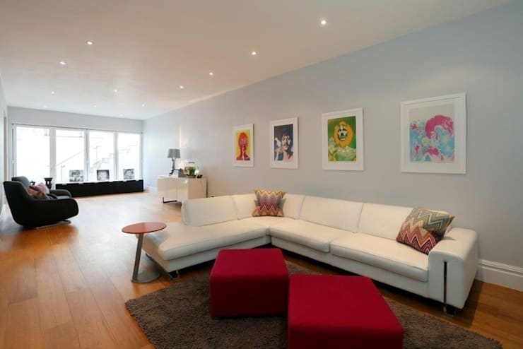 Wandsworth London, Detached House Refurbishment and Design: modern Media room by Urban Cape Interiors