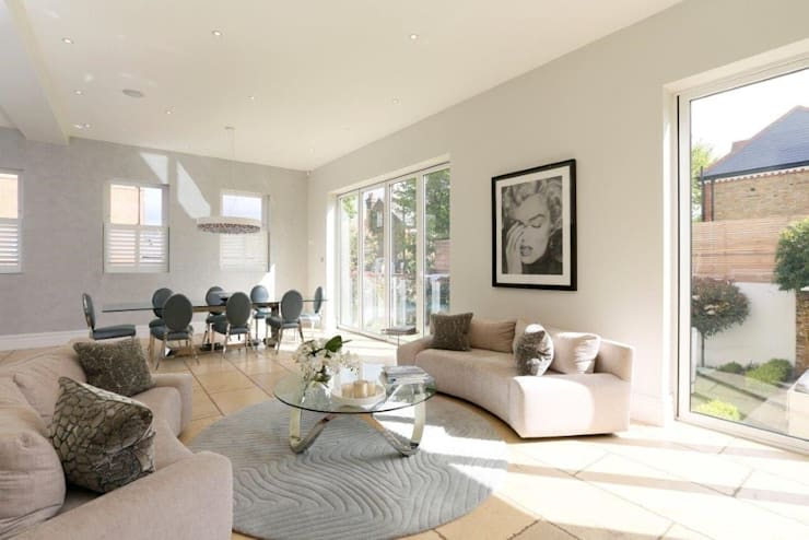 Wandsworth London, Detached House Refurbishment and Design: classic Living room by Urban Cape Interiors