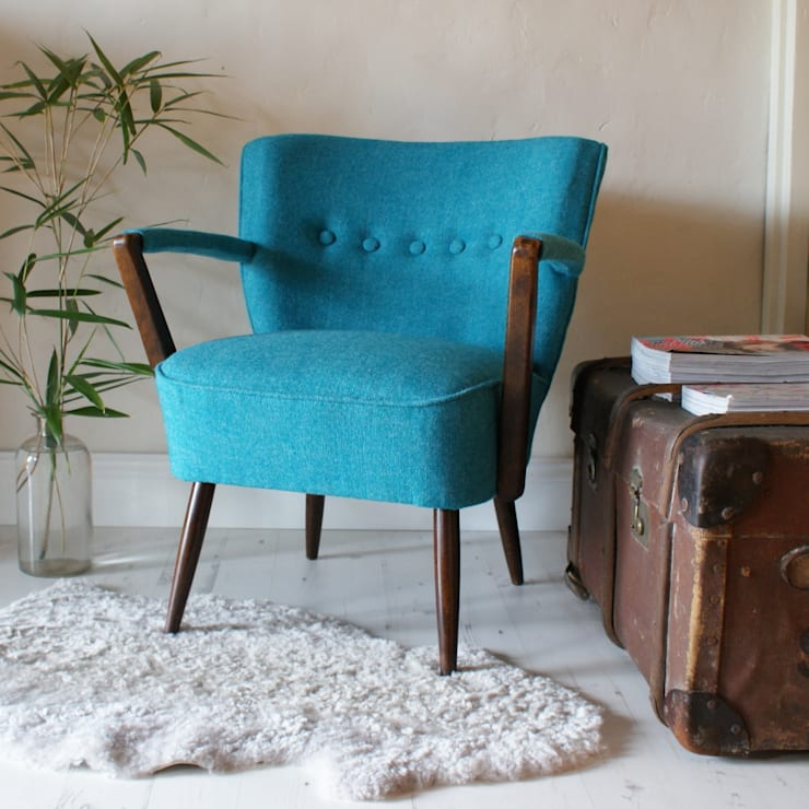 1950s Bute Tweed Armchair:  Study/office by DUNCOMBE OXLEYS