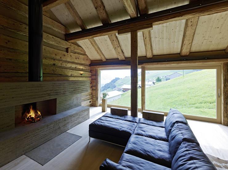 HAMMERER ztgmbh . architekten: kırsal tarz tarz Oturma Odası