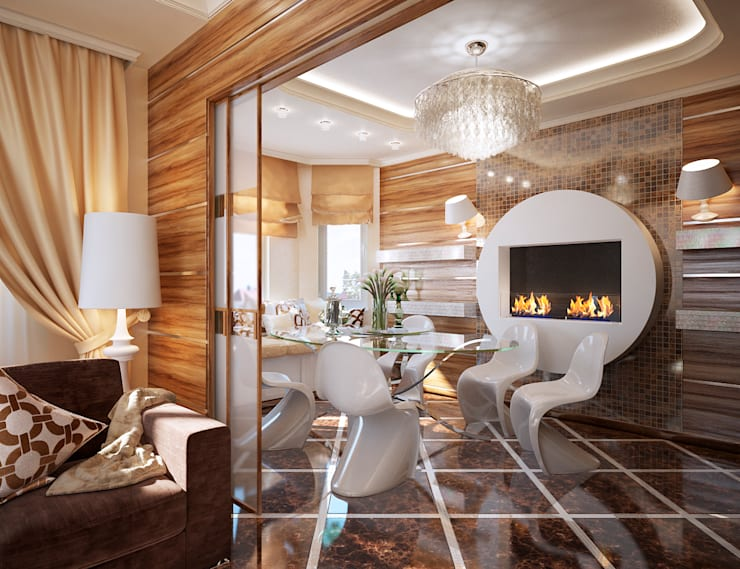 дом <q>Жемчуг и палисандр</q>: Столовые комнаты в . Автор – Арт-мастерская 'РЕПЛИКА'