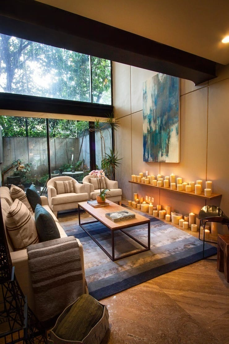 Departamento Tres Picos: Salas de estilo  por Concepto Taller de Arquitectura